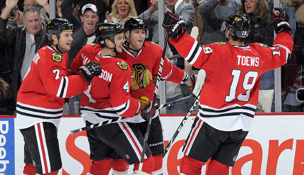 Playoff Prewiev: Original 6 Fight between Detroit Red Wings (3) and Chicago Blackhawks (6) Toews-goal-600