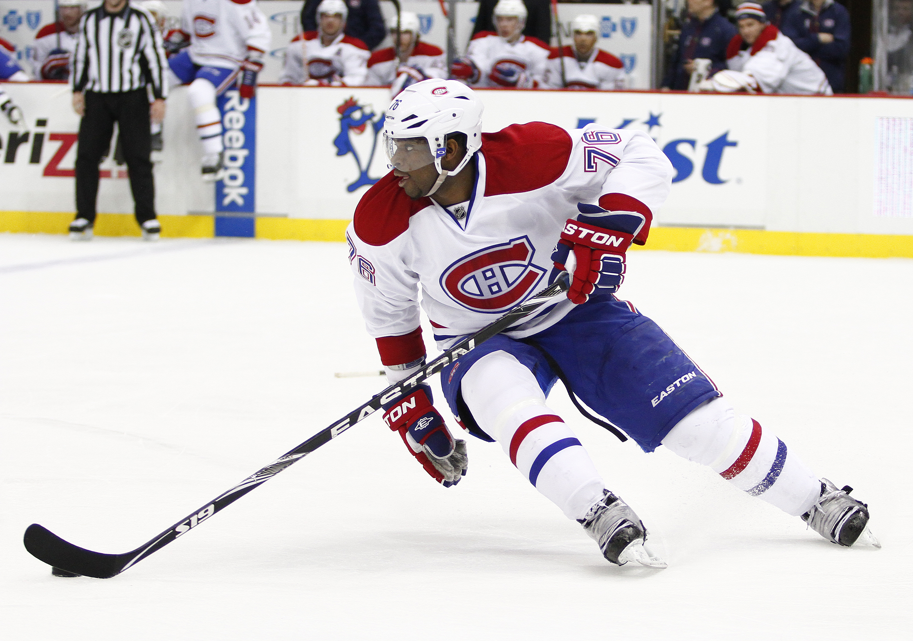 The 27-year old son of father Karl and mother Maria, 182 cm tall P.K. Subban in 2017 photo