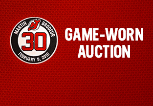 Martin Brodeur Game Worn Auction