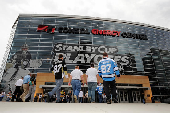 PITTSBURGH, PA - APRIL 27: Fans enter the arena prior to the game between the Pittsburgh Penguins and Tampa Bay Lightning in Game Seven of the Eastern Conference Quarterfinals during the 2011 NHL Stanley Cup Playoffs at Consol Energy Center on April 27, 2011 in Pittsburgh, Pennsylvania. (Photo by Jamie Sabau/NHLI via Getty Images)