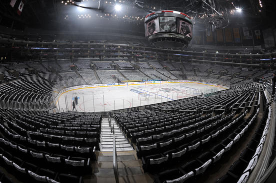 LOS ANGELES, CA - APRIL 18:  Towels sit on the seats prior to the game between the Los Angeles Kings and the Vancouver Canucks in Game Four of the Western Conference Quarterfinals during the 2012 NHL Stanley Cup Playoffs at Staples Center on April 18, 2012 in Los Angeles, California. (Photo by Andrew D. Bernstein/NHLI via Getty Images)