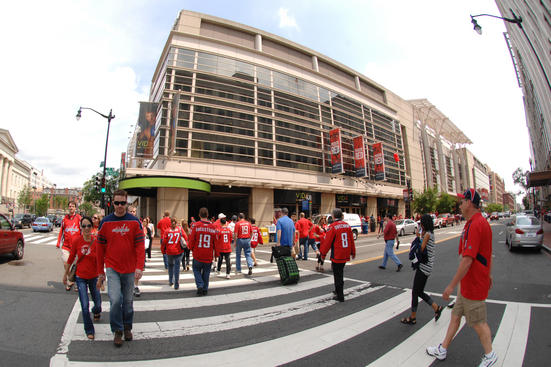 WASHINGTON, DC - MAY 5:  Washington Capitals fans arrive to arena before Game Four of the Eastern Conference Semifinals of the 2012 NHL Stanley Cup Playoffs between the Washington Capitals and the New York Rangers on May 5, 2012 at the Verizon Center in Washington, DC.  (Photo by Mitchell Layton/NHLI via Getty Images)
