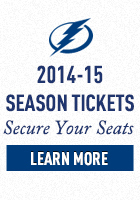 2014-15 Tampa Bay Lightning Hockey Season Tickets N
