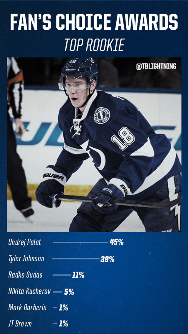 The Fan's voted for the top rookie on the Tampa Bay Lightning in 2013-14