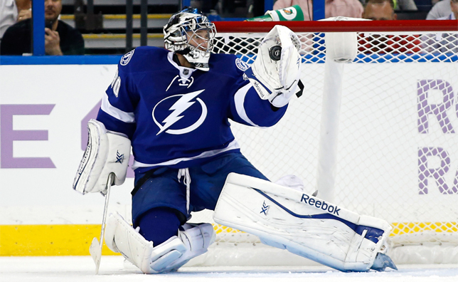 Ben Bishop makes a save