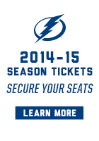2014-15 Tampa Bay Lightning Hockey Season Tickets Now on Sale