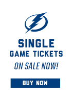 2014-15 Tampa Bay Lightning Single Game Tickets on Sale Now