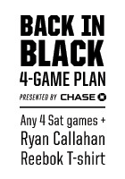 Buy your Chase Back in Black 4-Game Plan now