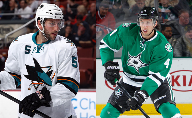 Sharks send Demers, pick to Stars for Dillon
