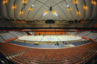 The record for the largest indoor crowd ever to see a professional hockey game in the United States may be broken Saturday at the Carrier Dome. (Courtesy: Scott Thomas)