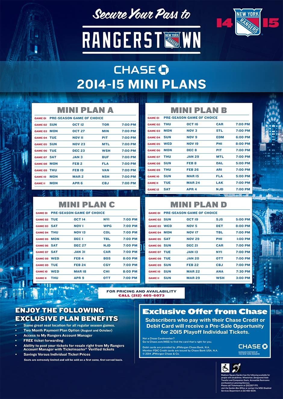 New York Rangers Schedule Wallpaper 2014-15 Mini Plans New York