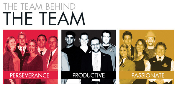 The Team Behind the Team, Perseverance - Productive - Passionate